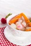 Tasty roasted radishes. A fresh and tasty roasted radishes Royalty Free Stock Photo