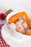 Tasty roasted radishes. A fresh and tasty roasted radishes Stock Photography