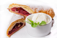Tasty rolls with sweet berry jam Royalty Free Stock Photos