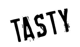 Tasty rubber stamp Royalty Free Stock Images