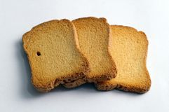 Tasty rusks. Close-up of an isolated rusks Stock Images