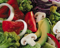 Tasty salad. A fresh an tasty assorted vegetables salad Royalty Free Stock Image