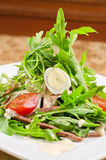 Tasty salad of beef tongue Royalty Free Stock Image
