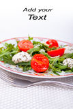 Tasty salad - cover for book Stock Photo