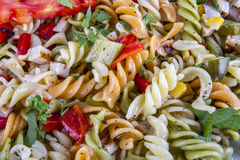 Tasty Salad from pasta. Tasty Salad from different colours pasta Stock Photo