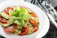 Tasty salad with vegetables Stock Images