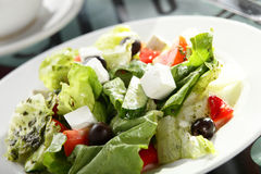 Tasty salad with vegetables Royalty Free Stock Photo