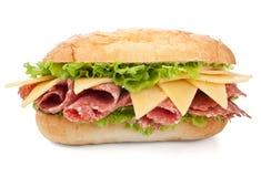 Tasty Salami Sandwich Stock Photography