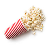 Tasty salted popcorn. Royalty Free Stock Images