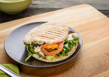 Tasty Sandwich with Fresh Vegetables Royalty Free Stock Images