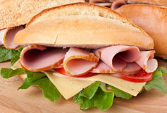 Tasty Sandwich with Ham Stock Photography