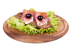 Tasty sandwich isolated on white Stock Photography