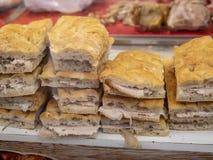 tasty sandwiches with pork stock photos