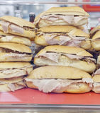 Tasty sanwiches with porchetta Royalty Free Stock Image