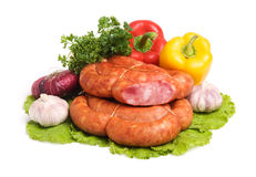 Tasty sausages Stock Images