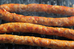Tasty Sausages On The Summer Gril Royalty Free Stock Images