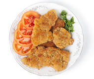 Tasty schnitzels Stock Images