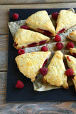 Tasty Scone with raspberry Royalty Free Stock Photo