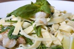 Tasty sea food with italian pasta Stock Image