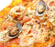 Tasty Seafood Pizza Royalty Free Stock Images