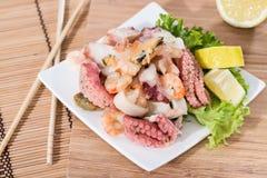 Tasty Seafood Salad Stock Images