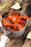 Shellfish in the pan Stock Photo