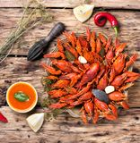 Delicacy boiled crawfish Royalty Free Stock Photography