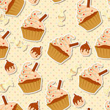 Tasty seamless pattern Stock Images