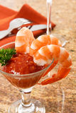 Tasty Shrimp Cocktail Royalty Free Stock Photography