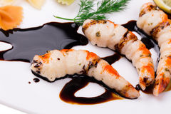Tasty shrimps Royalty Free Stock Images