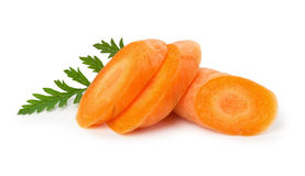 Tasty slice carrot on the white background Stock Photography