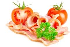 Tasty sliced bacon stock photo