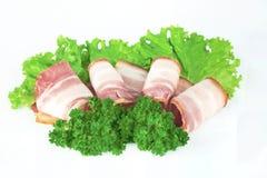 Tasty sliced bacon Royalty Free Stock Photos