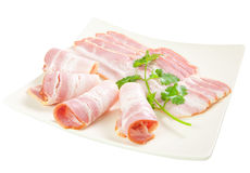 Tasty sliced bacon Stock Photos