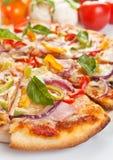Tasty Sliced Pizza Close up Royalty Free Stock Photos