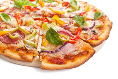 Tasty Sliced Pizza Stock Image