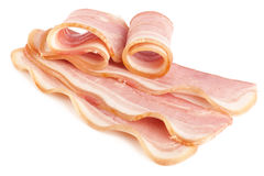 Tasty sliced pork bacon Stock Images
