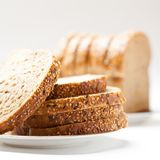 Tasty sliced raisin bread Stock Photography
