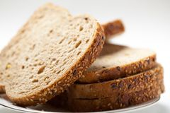 Tasty sliced raisin bread Stock Images