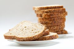 Tasty sliced raisin bread Royalty Free Stock Photo