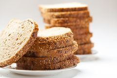 Tasty sliced raisin bread Royalty Free Stock Image