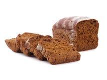 Tasty sliced rye bread. Macro image of freshly baked bread royalty free stock image