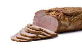Tasty slices of ham Royalty Free Stock Images