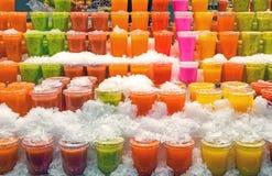 Tasty smoothies at a market Royalty Free Stock Photos