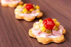 Tasty snacks Stock Image
