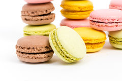 Tasty. Some sweet colorful biscuits against white background Royalty Free Stock Photos