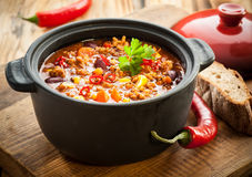Tasty Spicy Chili Con Carne Casserole Royalty Free Stock Photography