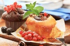 Tasty Sponge Cakes Stock Photography