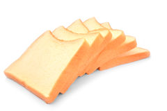Tasty stack breads isolated on white background Stock Photos