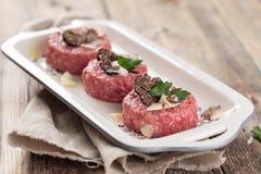 Tasty Steak tartare royalty free stock photo